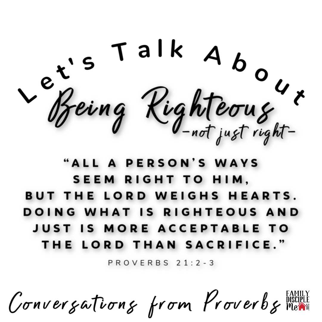 Being Righteous