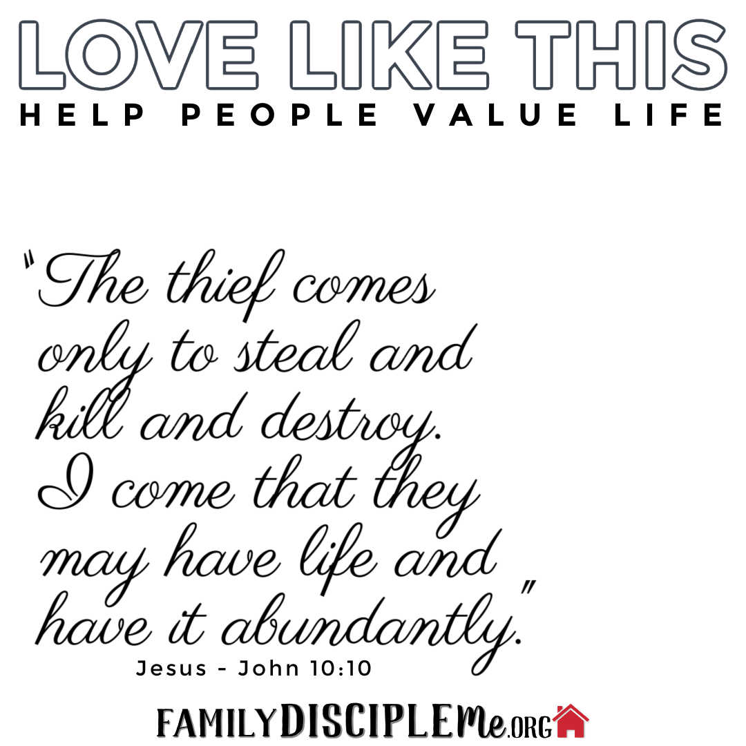 Help People Value Life