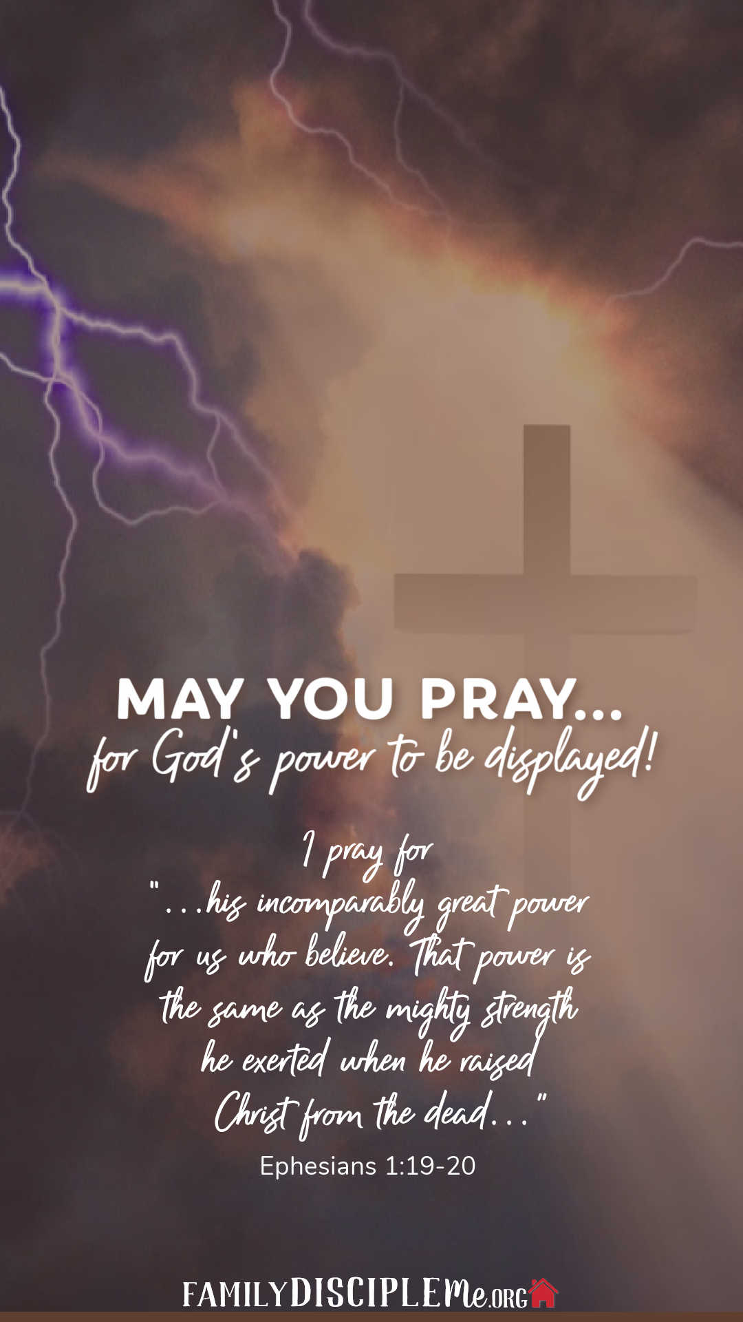 May You Pray...for God's Power to Be Displayed!